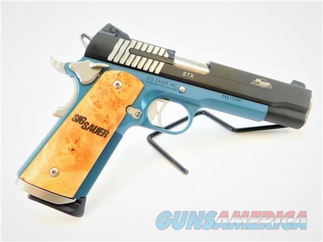"SIG SAUER 1911 STX 5"" .45 AUTO CERAKOTE BLUE FRAME  Guns > Pistols > Sig - Sauer/Sigarms Pistols > 1911"