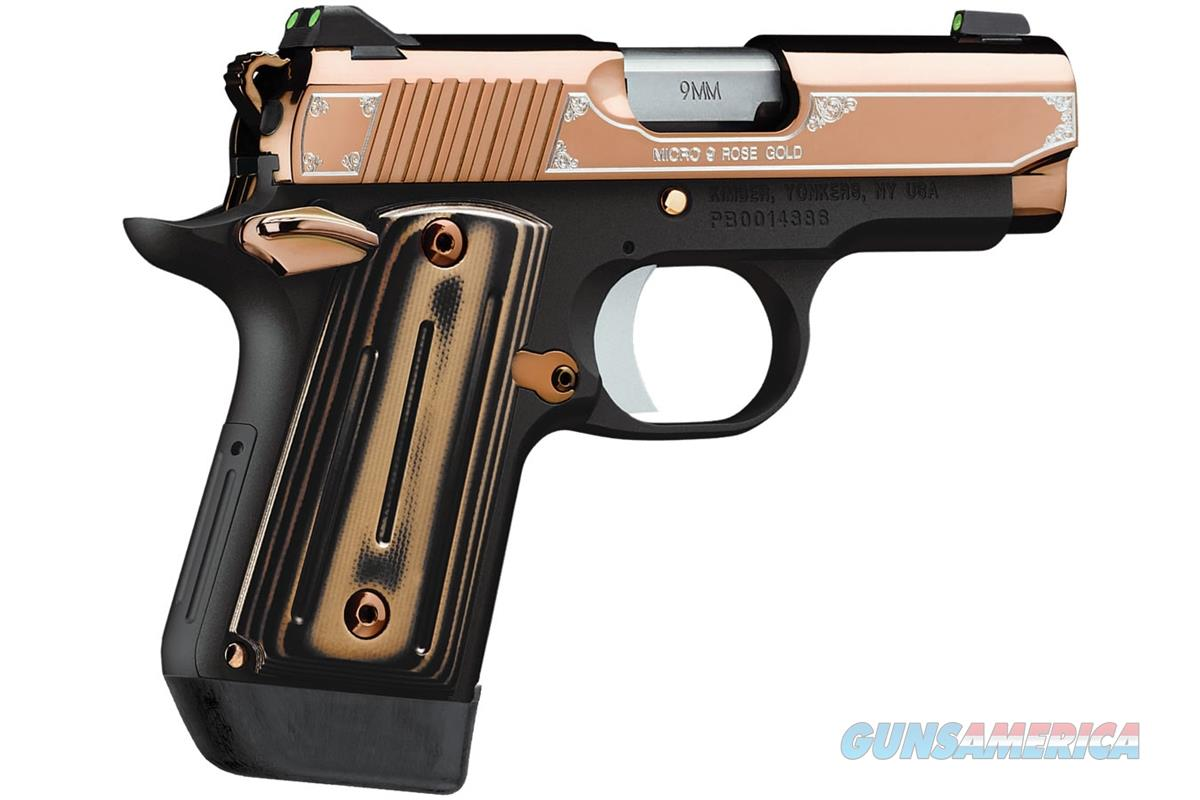 "Kimber Micro 9 Rose Gold 9mm 3.15"" 7 Rds Tritium Sights 3300174   Guns > Pistols > Kimber of America Pistols > Micro 9"