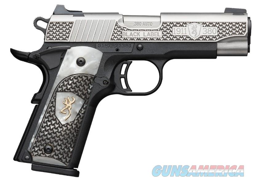 "Browning 1911-380 Black Label .380 ACP 4.25"" Pearl Grips 051958492   Guns > Pistols > Browning Pistols > Other Autos"