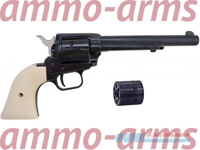 "HERITAGE ROUGH RIDER 6.5"" IVORY .22 LR & MAGNUM COMBO RR22MB6W  Guns > Pistols > Heritage"