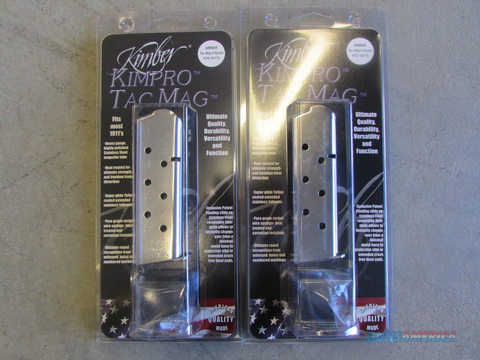 (2) Kimber KimPro Tac-Mags .45 ACP 8rd w/ FREE SHIPPING 1100721  Non-Guns > Magazines & Clips > Pistol Magazines > 1911