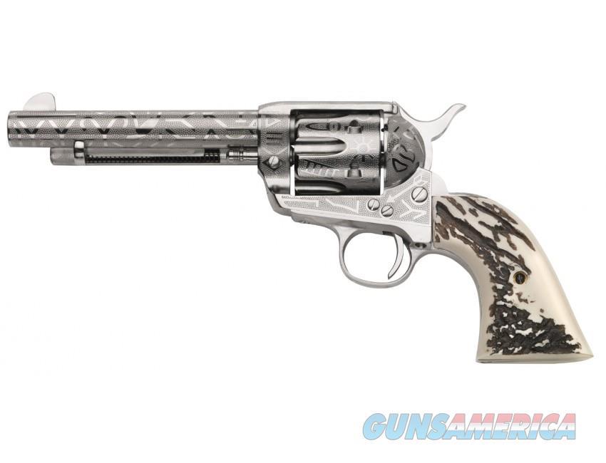 "Taylor's & Co. 1873 Cattleman .45 LC Nickel Engraved 5.5"" OG1408  Guns > Pistols > Taylors & Co. Pistols > Ctg."