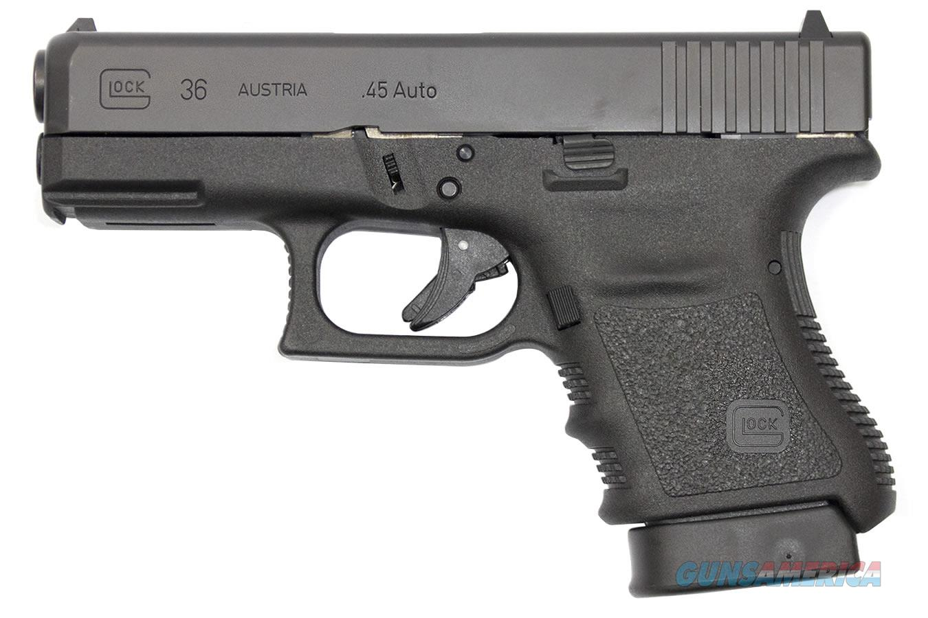 "Glock G36 Gen3 .45 ACP 3.77"" Rail 6 Rds PI3650201FGR   Guns > Pistols > Glock Pistols > 29/30/36"