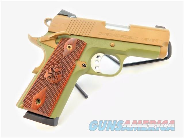 "SPRINGFIELD 1911 EMP 3"" .40 S&W CERAKOTE TAN / GREEN  Guns > Pistols > Springfield Armory Pistols > 1911 Type"