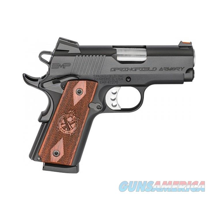 "Springfield Armory 1911 EMP 9mm Luger 3"" Black PI9208L  Guns > Pistols > Springfield Armory Pistols > 1911 Type"