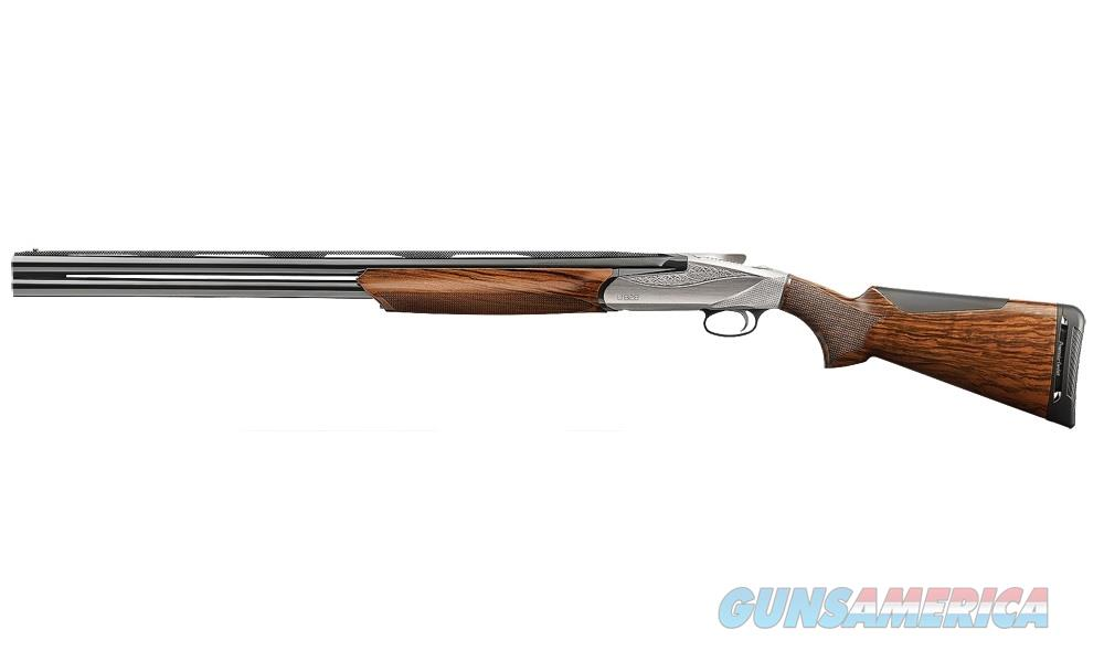 "Benelli 828U Over/Under 12 Gauge Nickel Engraved 28"" LEFT-HAND 10708   Guns > Shotguns > Benelli Shotguns > Sporting"