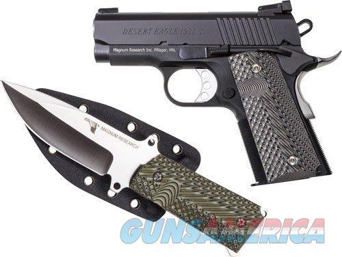 "Magnum Research DE 1911 Undercover 9mm w/Knife 3"" Black DE1911U9-K   Guns > Pistols > Magnum Research Pistols"