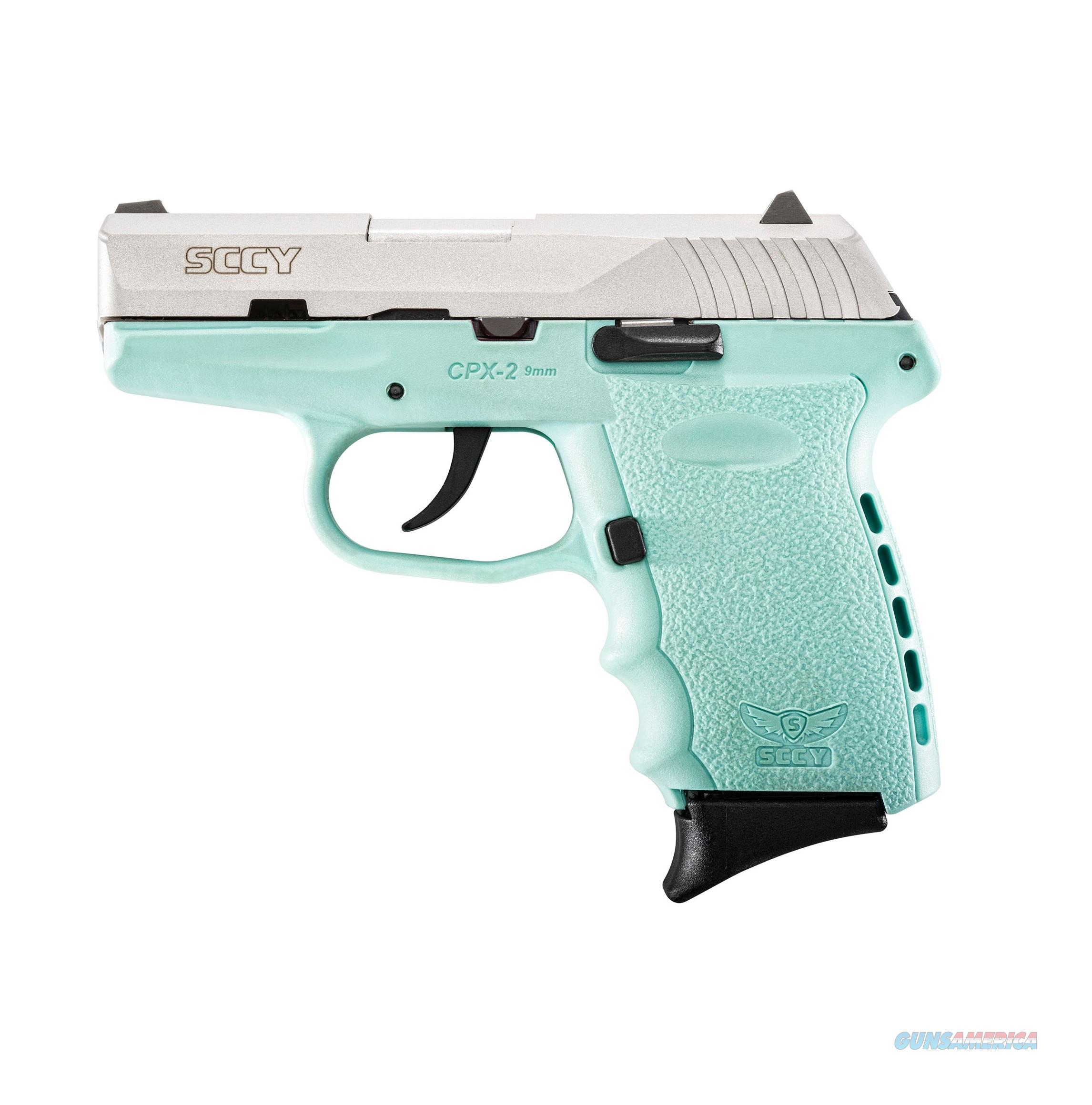 "SCCY CPX-2 9mm Satin SS/Blue 3.1"" CPX-2 TTSB   Guns > Pistols > SCCY Pistols > CPX2"