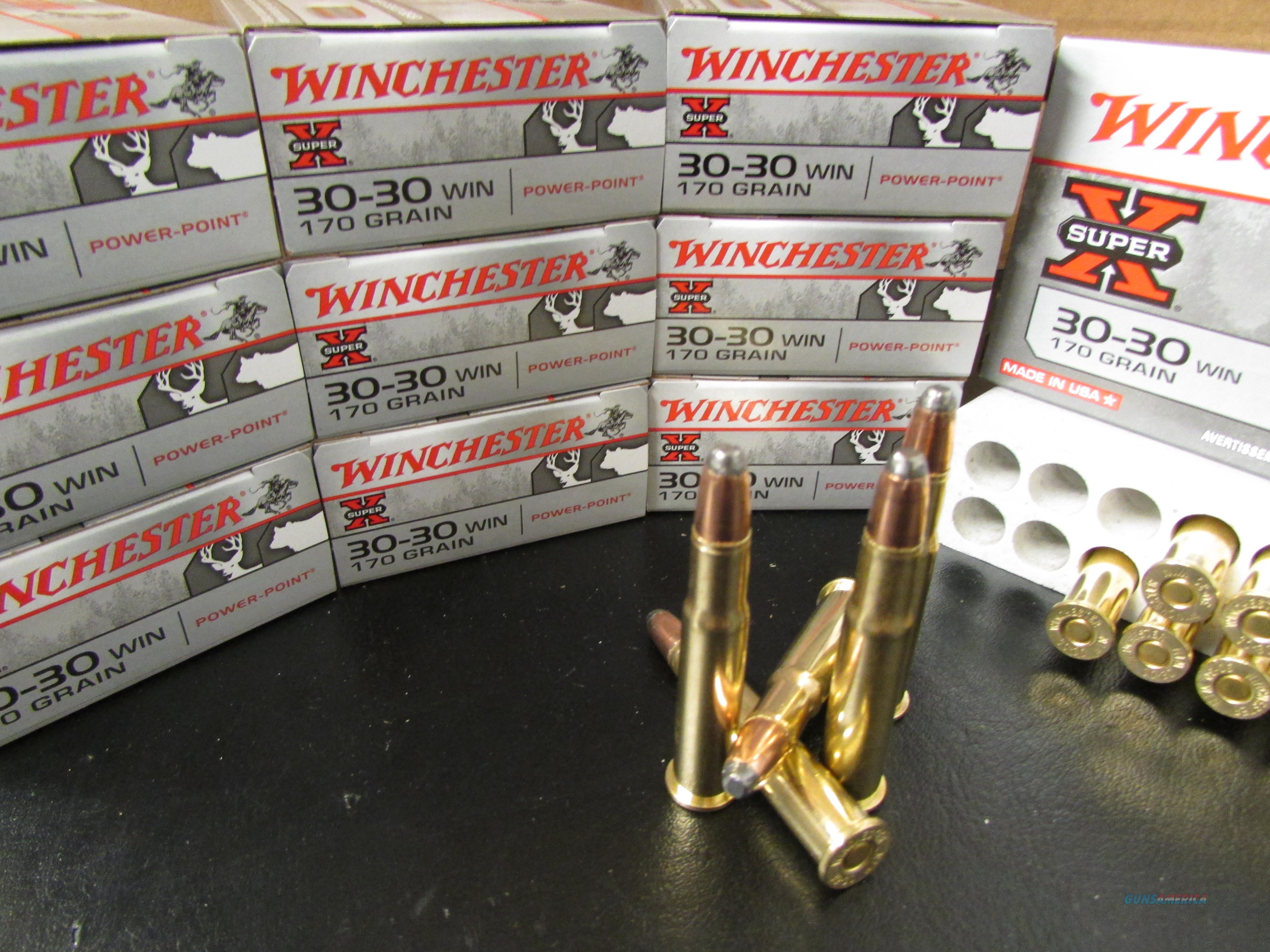 200 RDS WINCHESTER SUPER-X 170 GR SP .30-30 WIN.  Non-Guns > Ammunition