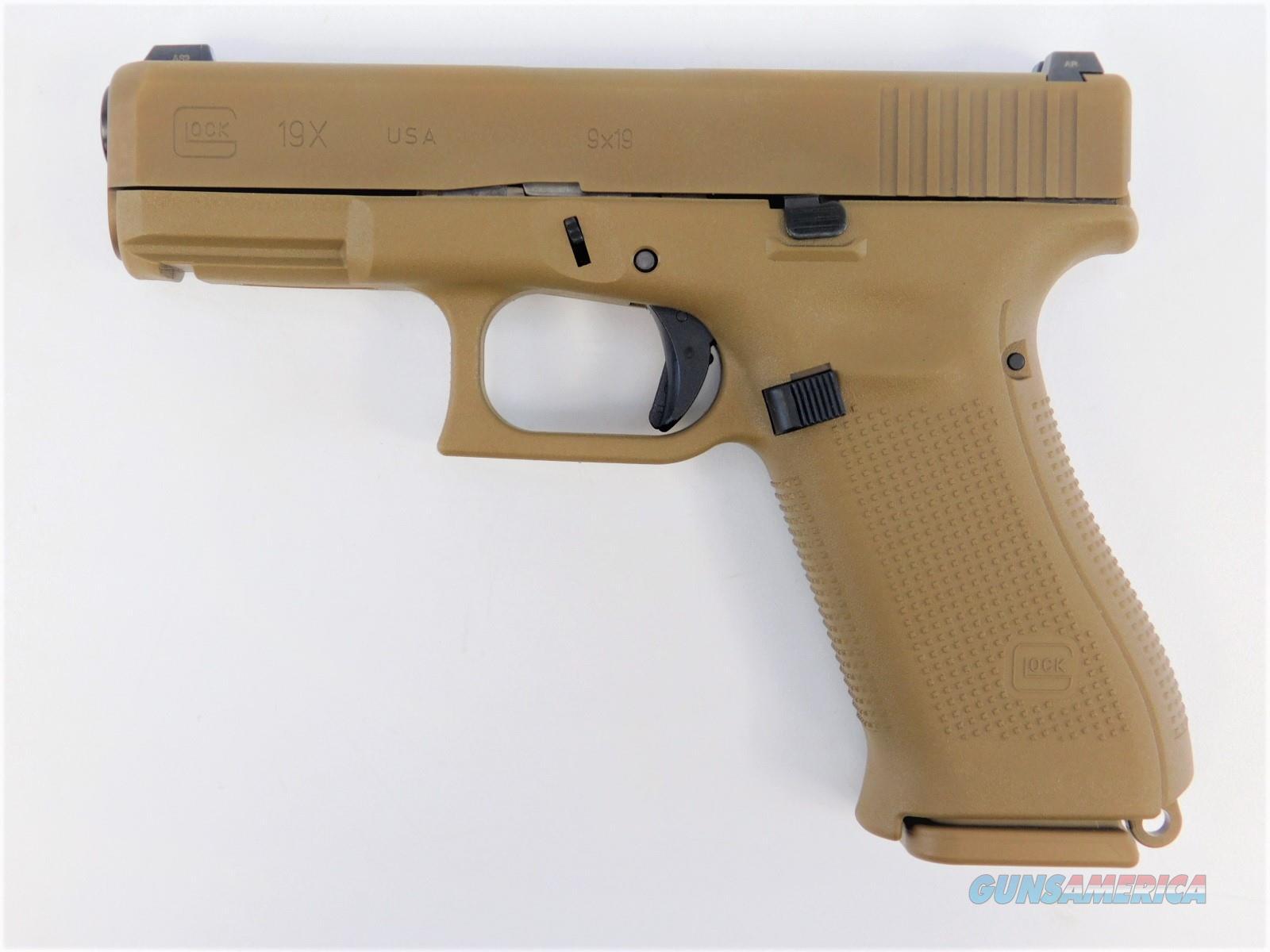 "Glock G19X Gen 5 9mm Luger 4.02"" Coyote Tan UX1950703  Guns > Pistols > Glock Pistols > 19/19X"