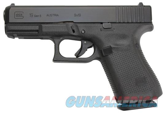 "Glock G19 Gen 5 9MM 4.02"" BBL 15 Rounds PA1950203   Guns > Pistols > Glock Pistols > 19/19X"