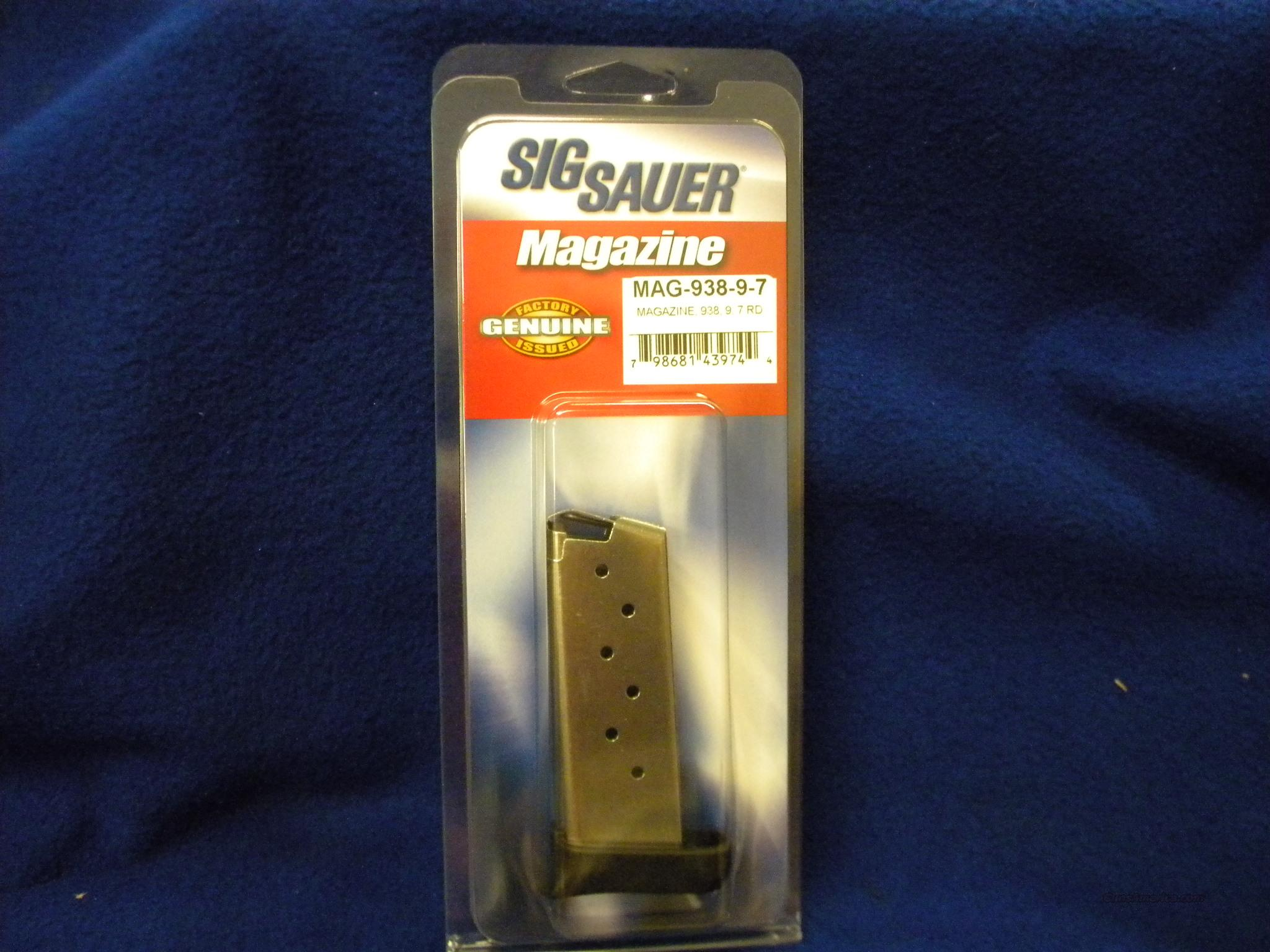 SIG SAUER P938 7 ROUND EXTENDED MAG 9MM  Non-Guns > Magazines & Clips > Pistol Magazines > Sig