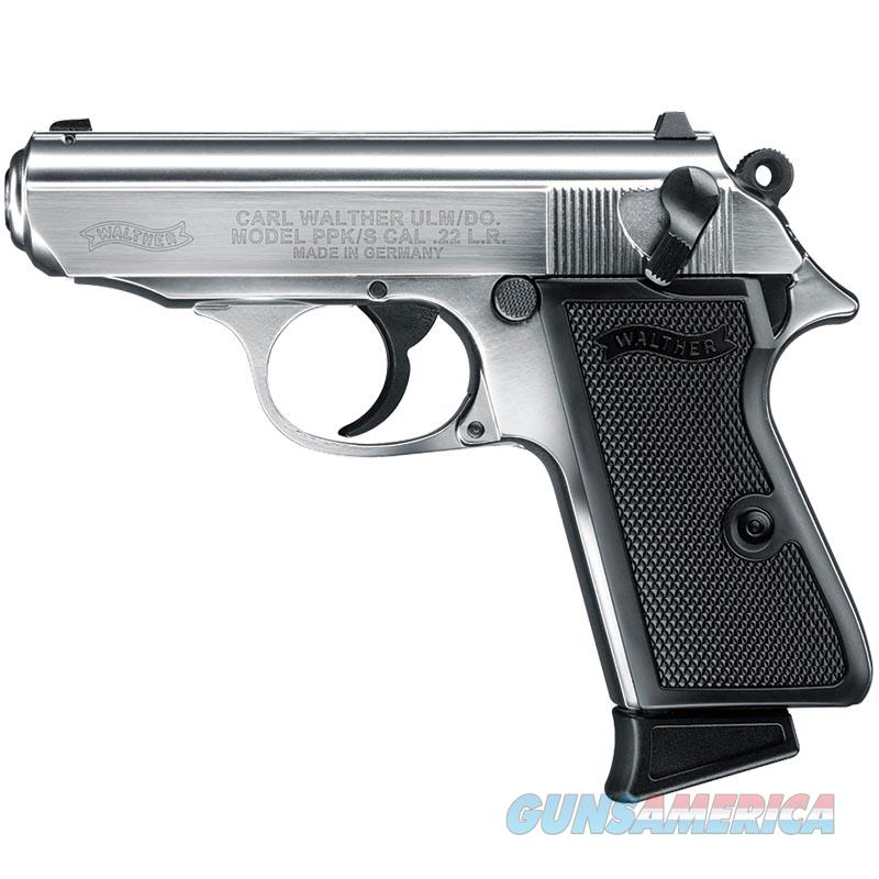 "Walther PPK/S Nickel .22 LR 3.3"" 10 Rounds 503.03.20  Guns > Pistols > Walther Pistols > Post WWII > PPK Series"