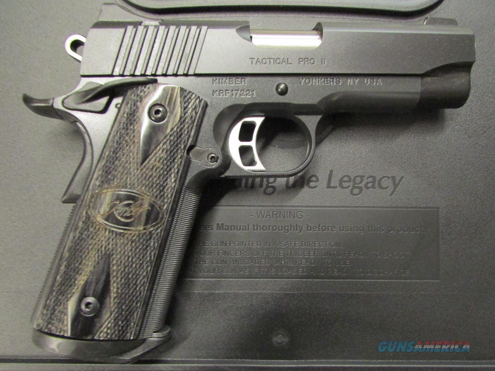 Kimber Tactical Pro II Commander 1911 9mm Luger 3200120 Guns > Pistols >  Kimber of America Pistols > 1911