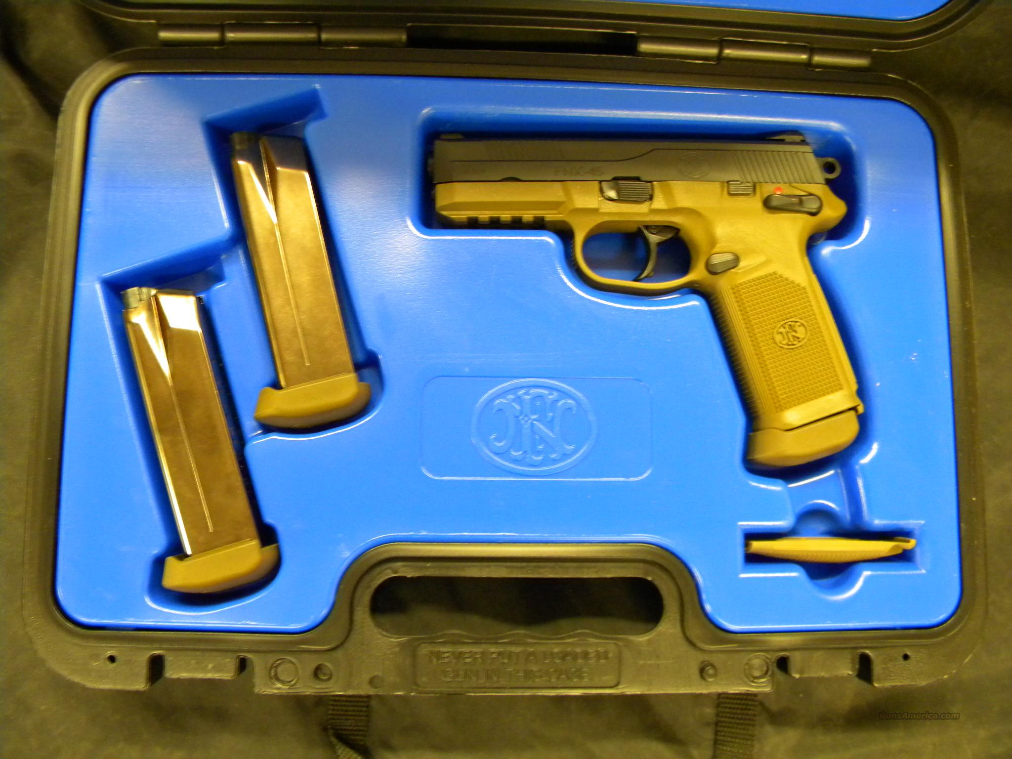 FNH FNX-45 .45ACP FDE  Guns > Pistols > FNH - Fabrique Nationale (FN) Pistols > High Power Type