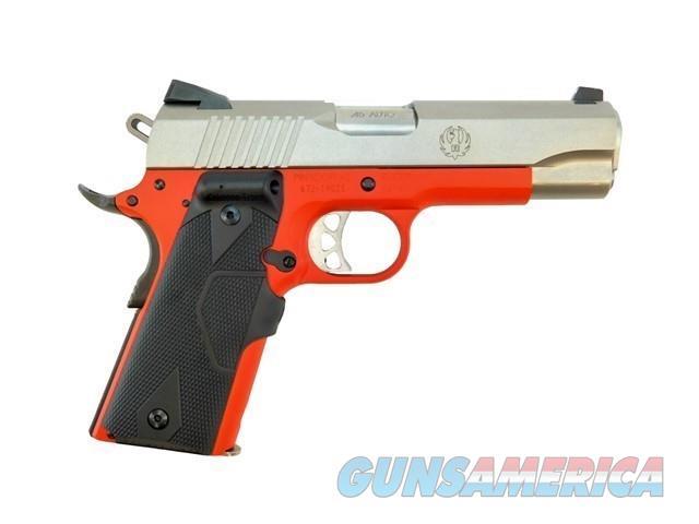 RUGER SR1911 COMMANDER .45 ACP LASEGRIPS USMC RED   Guns > Pistols > Ruger Semi-Auto Pistols > 1911