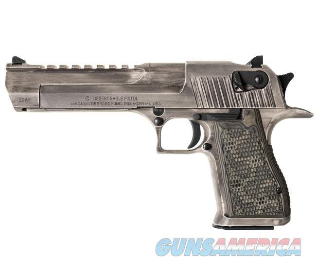 "Magnum Research Desert Eagle .50 AE 6"" Barrel 7rds White Matte Distressed DE50WMD   Guns > Pistols > Magnum Research Pistols"