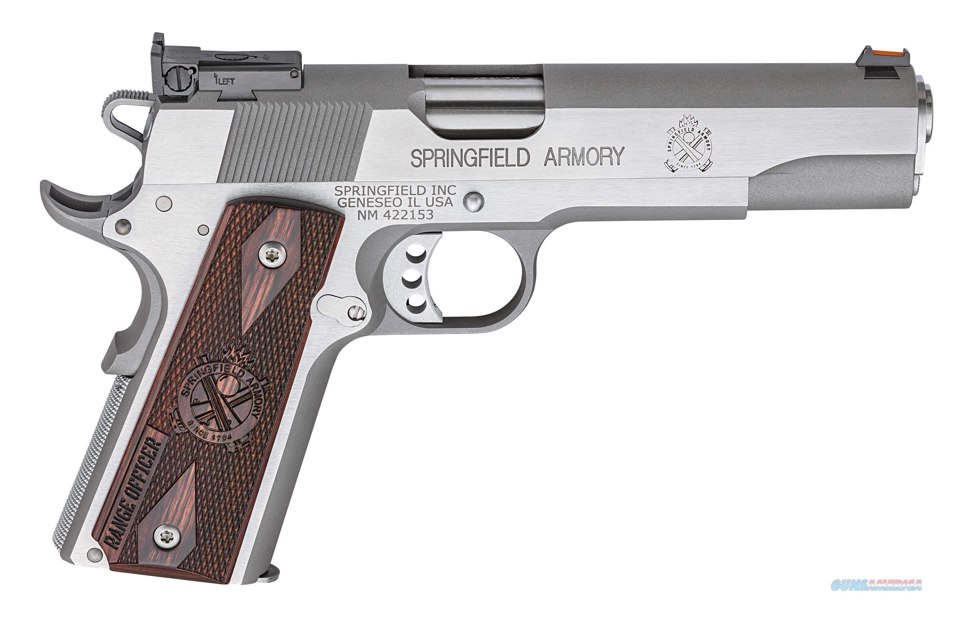 "Springfield 1911 Range Officer Stainless .45 ACP 5"" 7rd PI9124L   Guns > Pistols > Springfield Armory Pistols > 1911 Type"