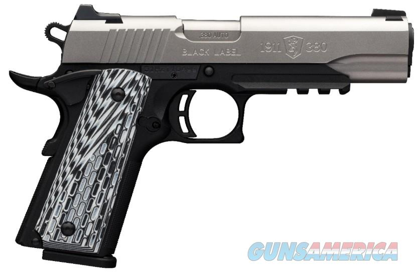 """Browning 1911-380 Black Label Pro SS w/Rail 4.25"""" 051927492  Guns > Pistols > Browning Pistols > Other Autos"""