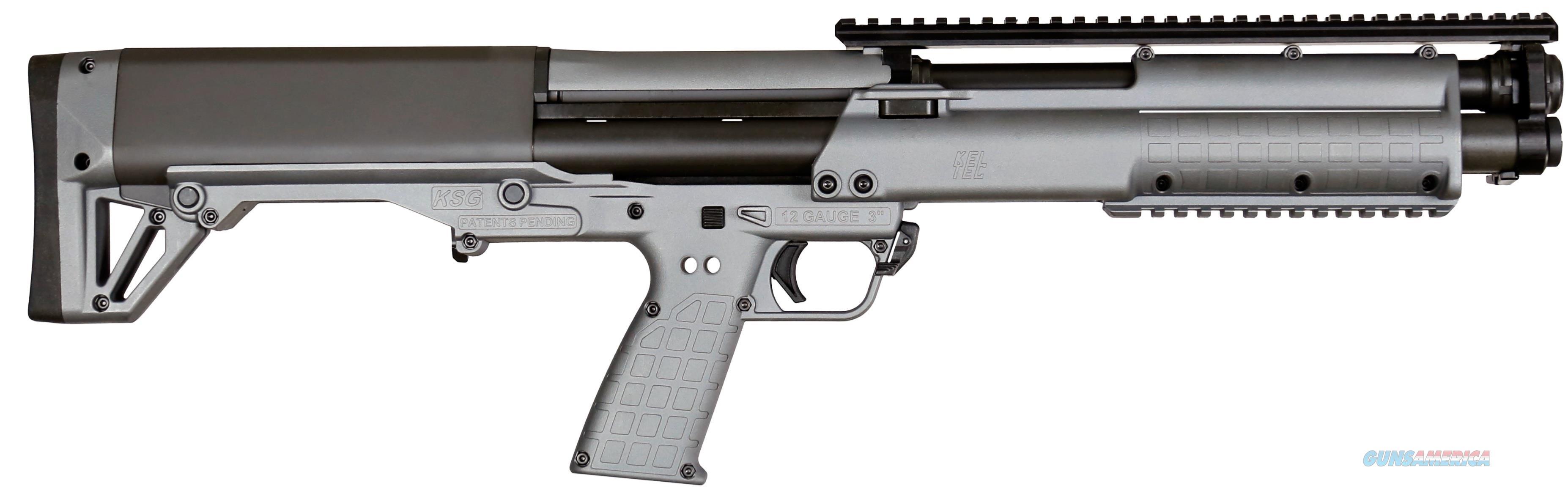 """Kel-Tec KSG Tactical Gray Shotgun 12 Gauge 18.5"""" KSGGY   Guns > Shotguns > Kel-Tec Shotguns > KSG"""