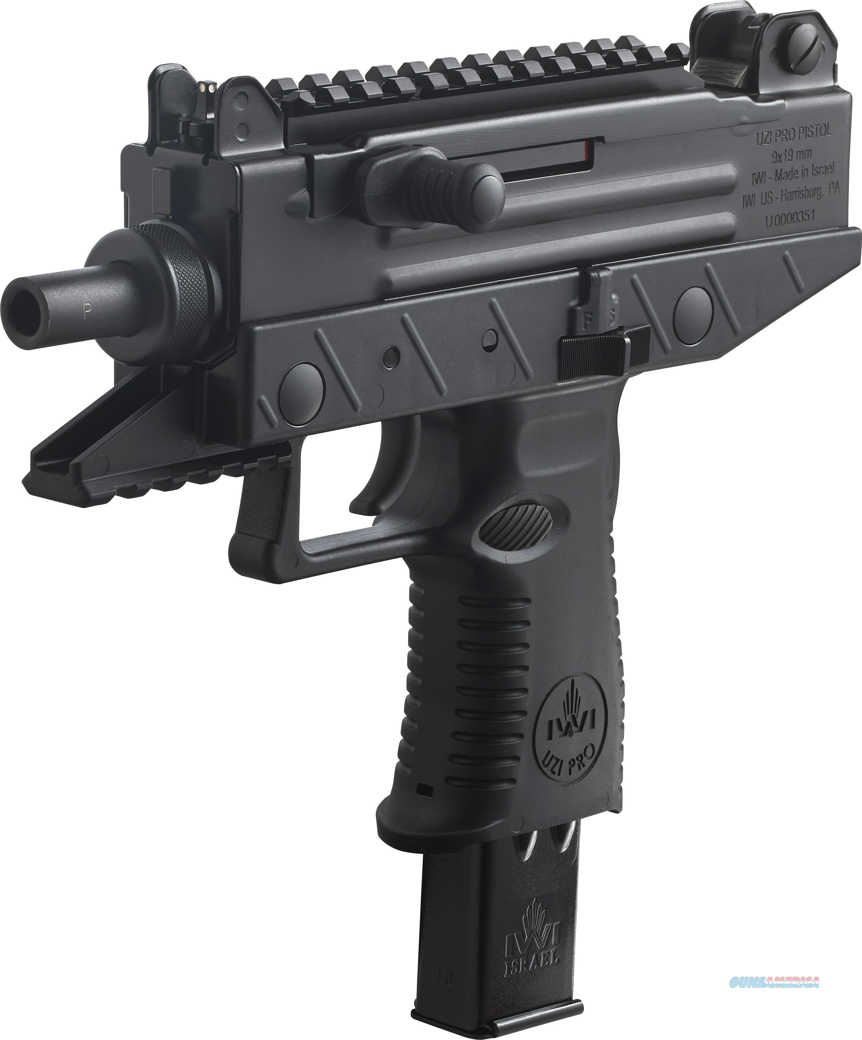 "IWI UZI Pro Pistol 9mm Luger 4.5"" 25 Rounds UPP9S  Guns > Pistols > IWI Pistols"