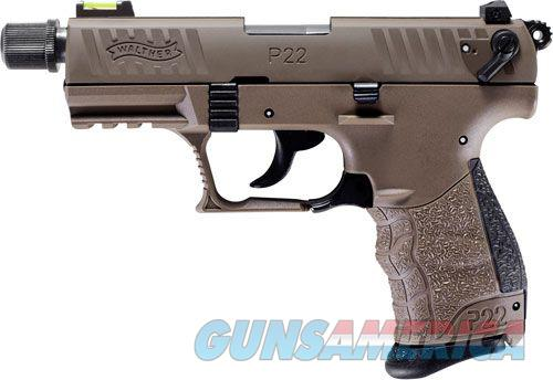 """Walther P22 QD Tactical .22 LR FDE 3.42"""" TB 512.05.53   Guns > Pistols > Walther Pistols > Post WWII > P22"""