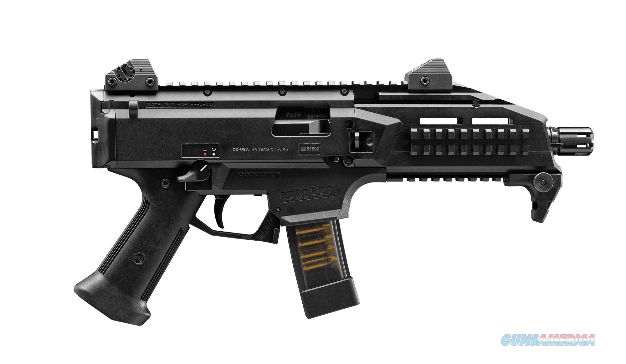 "CZ-USA Scorpion EVO 3 S1 9mm Luger 7.75"" 10 Rounds 01351  Guns > Pistols > CZ Pistols"