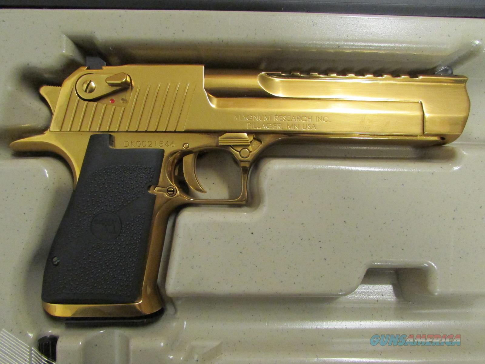 Titanium Gold Magnum Research Desert Eagle Mark... for sale