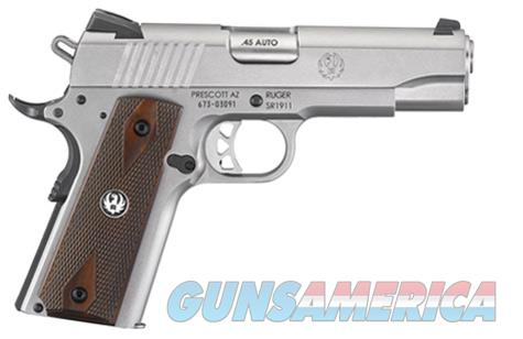 """Ruger SR1911 Commander .45 ACP 4.25"""" Stainless 7 Rds 6702   Guns > Pistols > Ruger Semi-Auto Pistols > 1911"""