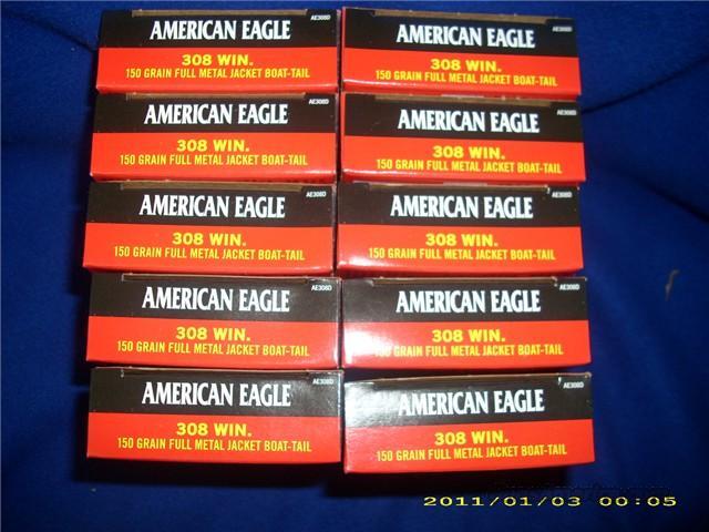Federal American Eagle 308 Win. 150Gr 200 Rounds   Non-Guns > Ammunition