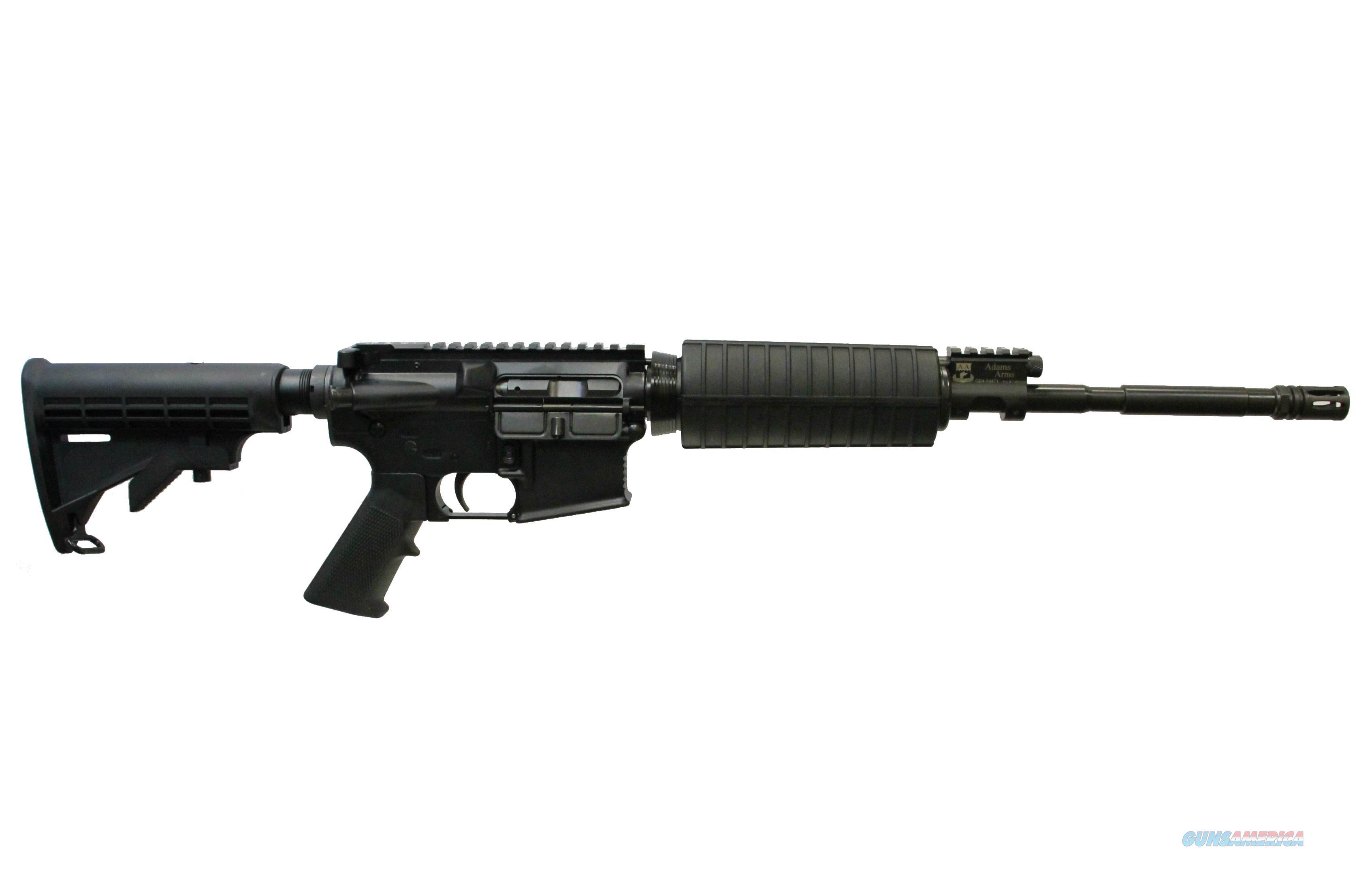"ADAMS ARMS AGENCY BASE PISTON AR-15 AR15 16"" BLACK SKU: FGAA-001155-R  Guns > Rifles > AR-15 Rifles - Small Manufacturers > Complete Rifle"