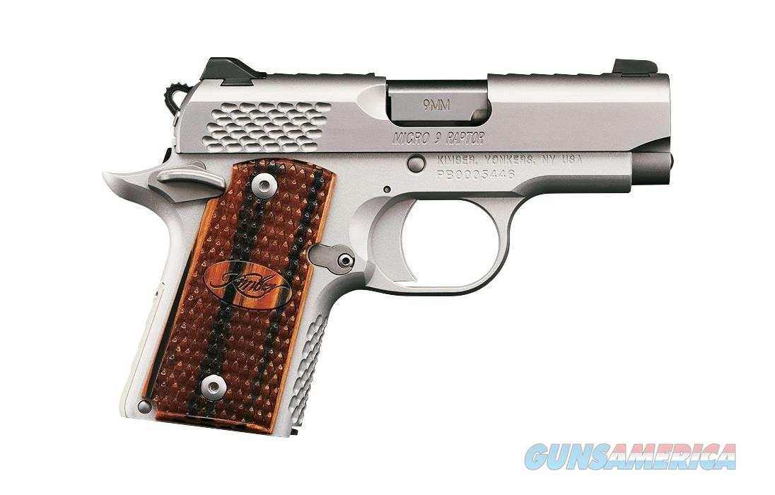 "Kimber Micro 9 Stainless Raptor 9mm 3.15"" 3300109   Guns > Pistols > Kimber of America Pistols > Micro 9"