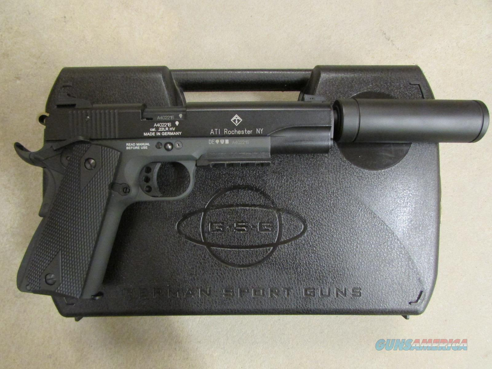 "ATI GERG1911ADOP GSG 1911 5"" .22 LR with Faux Suppressor GERG1911ADOP  Guns > Pistols > American Tactical Imports Pistols"
