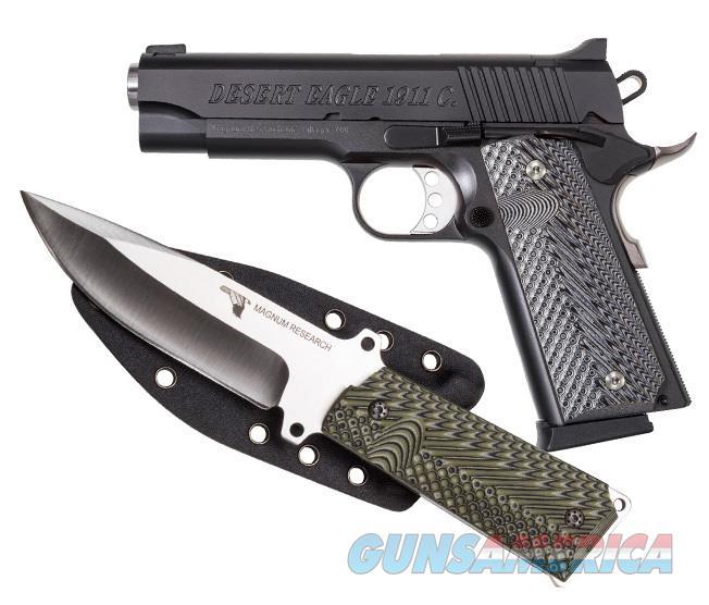 "Magnum Research DE 1911 Commander 9mm w/Knife 4.33"" Black DE1911C9-K   Guns > Pistols > Magnum Research Pistols"
