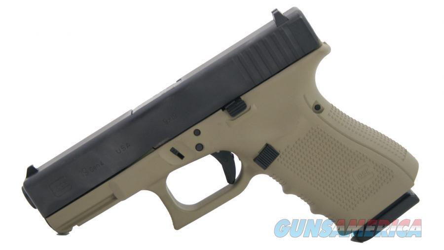 "Glock G19 GEN4 9mm Coyote Tan/Black 4.01"" 15 Rds UG1950204CT   Guns > Pistols > Glock Pistols > 19"
