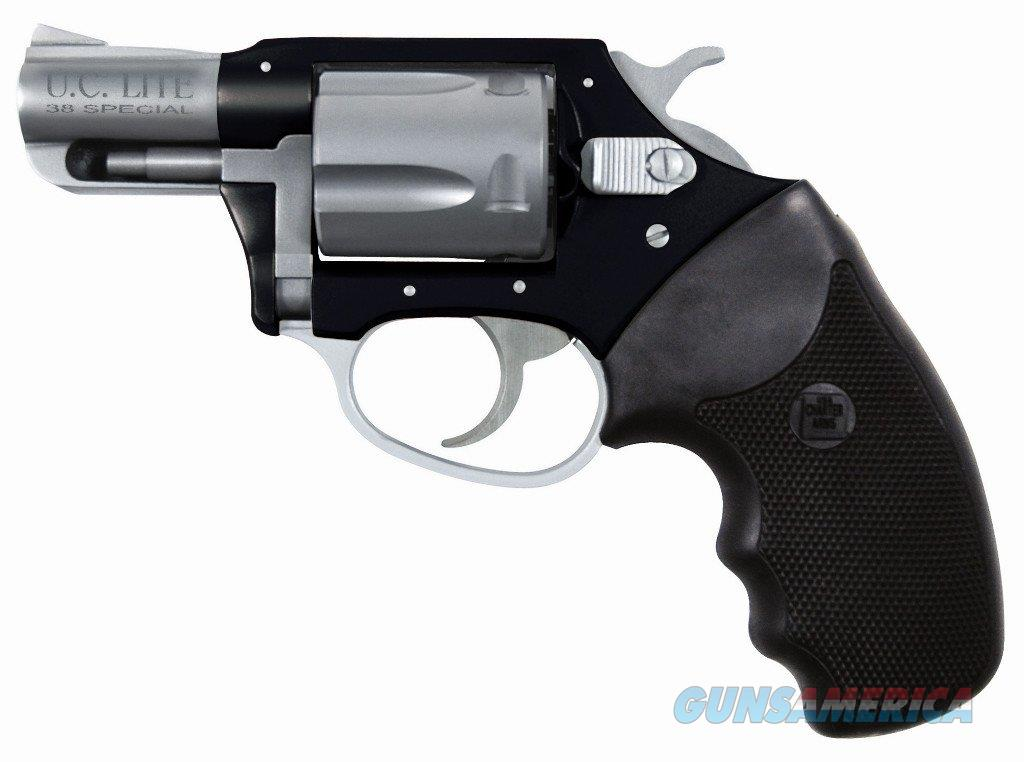 "Charter Arms Undercover Lite Stainless & Black 2"" .38 Special 53870  Guns > Pistols > Charter Arms Revolvers"