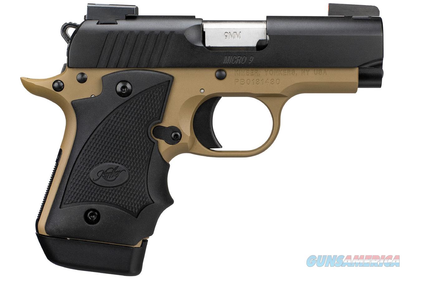 "Kimber Micro 9 Desert Night (DN) 9mm 3.15"" TRUGLO 3300197   Guns > Pistols > Kimber of America Pistols > Micro 9"