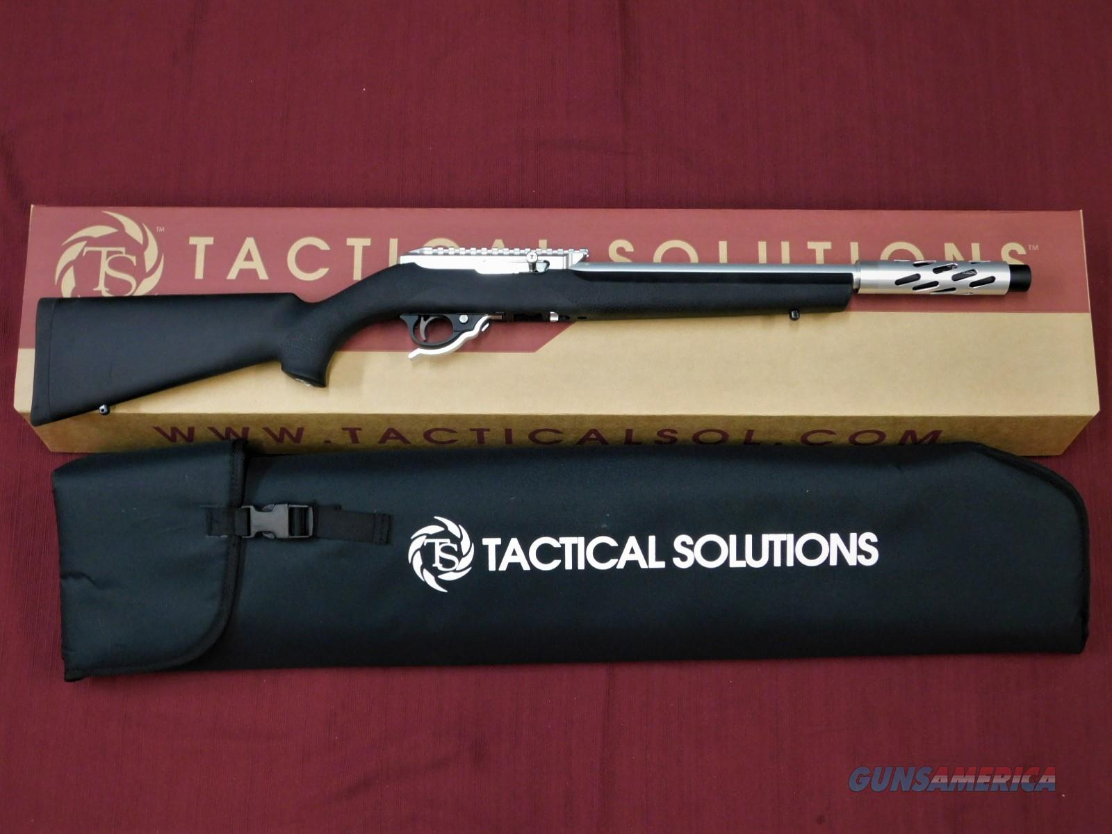 TACTICAL SOLUTIONS X-RING SBX SILVER HOGUE BLACK .22 LR  Guns > Rifles > Ruger Rifles > 10-22