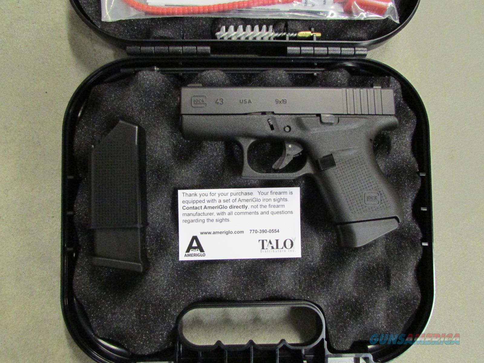 glock 43 g43 339quot talo exclusive night sight 9 for sale