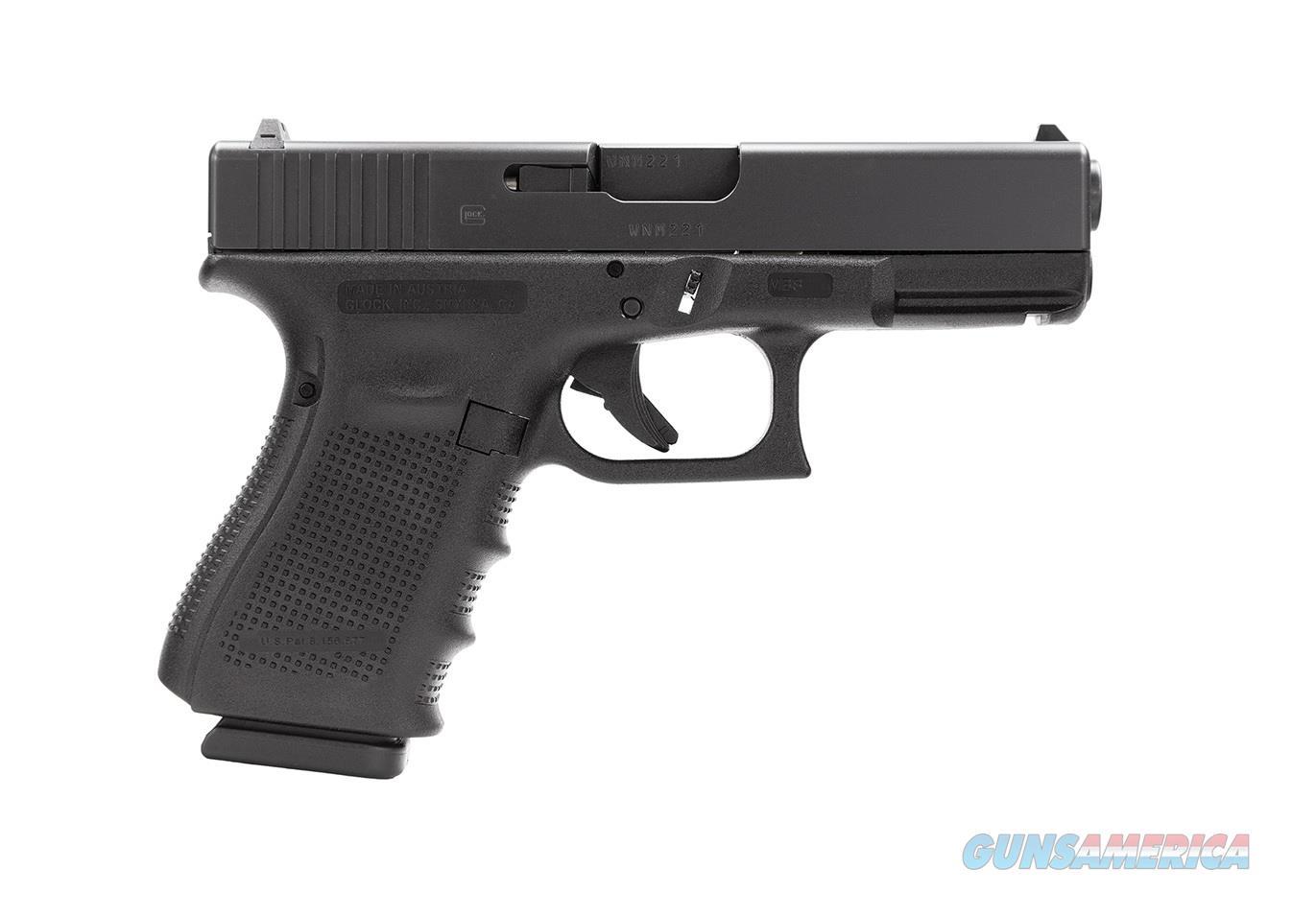 """Glock 19 GEN4 4.01"""" 15 Round 9mm Luger PG1950203   Guns > Pistols > Glock Pistols > 19/19X"""