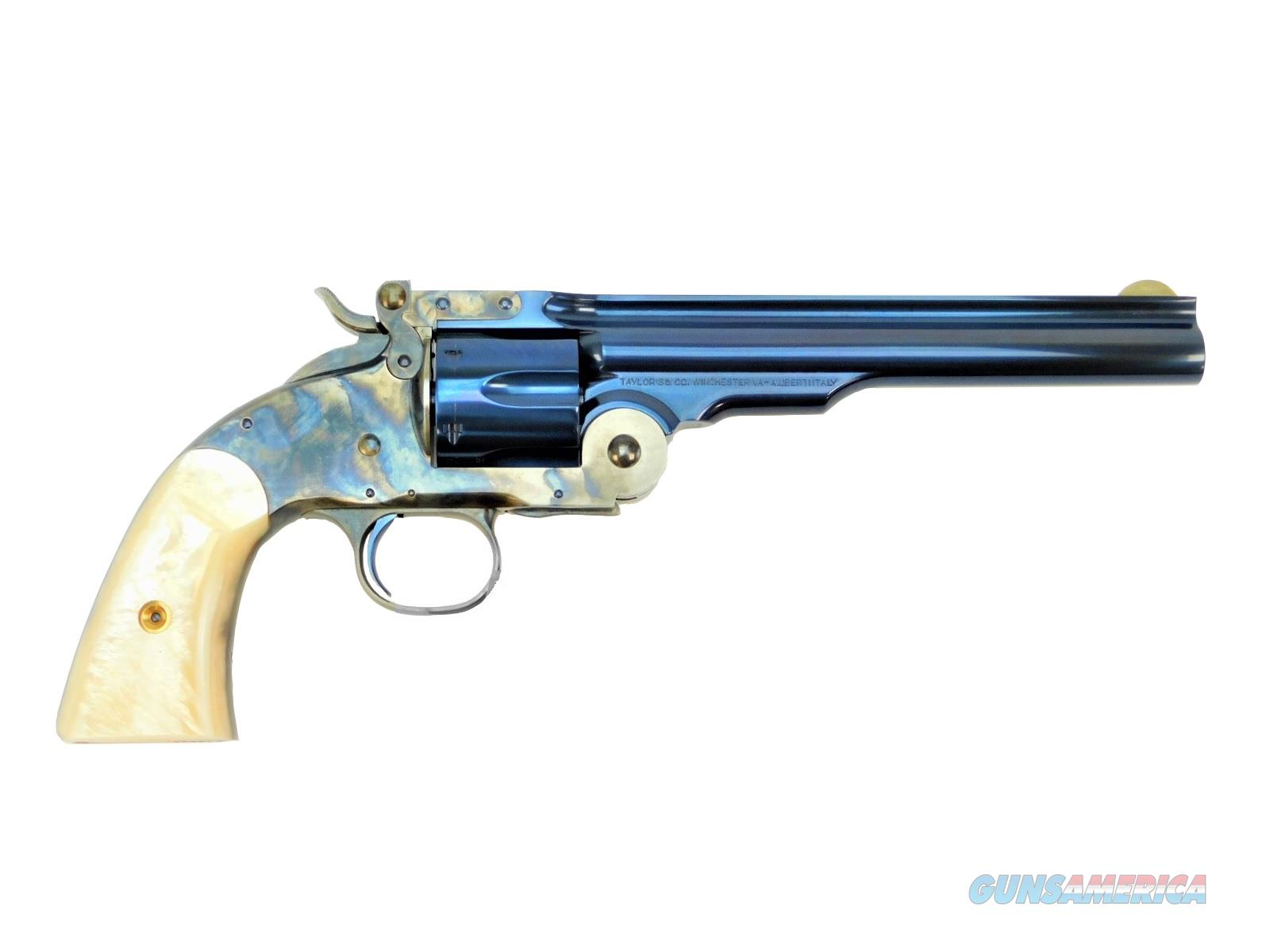 "Taylor's & Co. / Uberti Schofield Charcoal Blue .45 Colt 7"" Pearl Grips  Guns > Pistols > Taylors & Co. Pistols > Ctg."