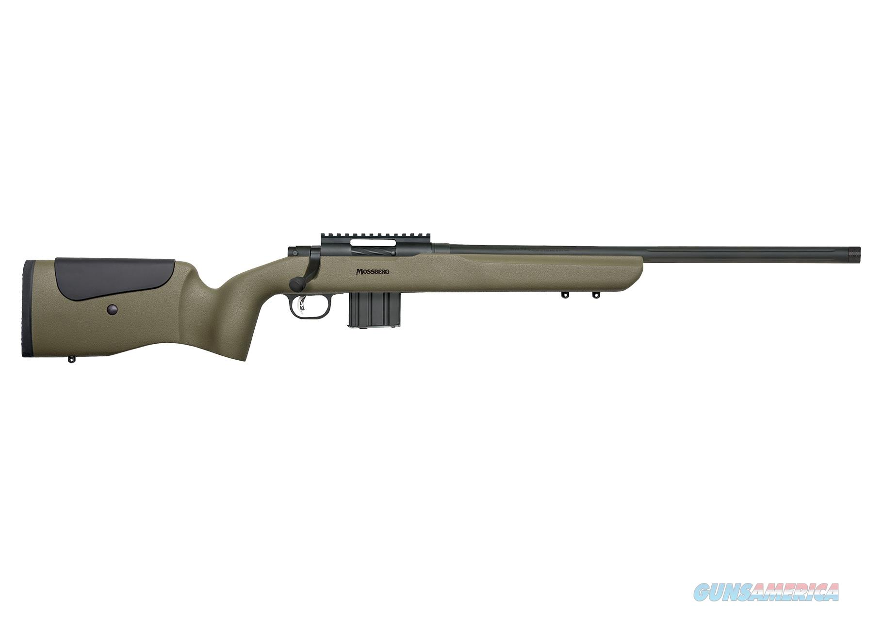 "Mossberg MVP Long Range OD Green 20"" Threaded BBL 5.56 NATO 27696  Guns > Rifles > Mossberg Rifles > MVP"