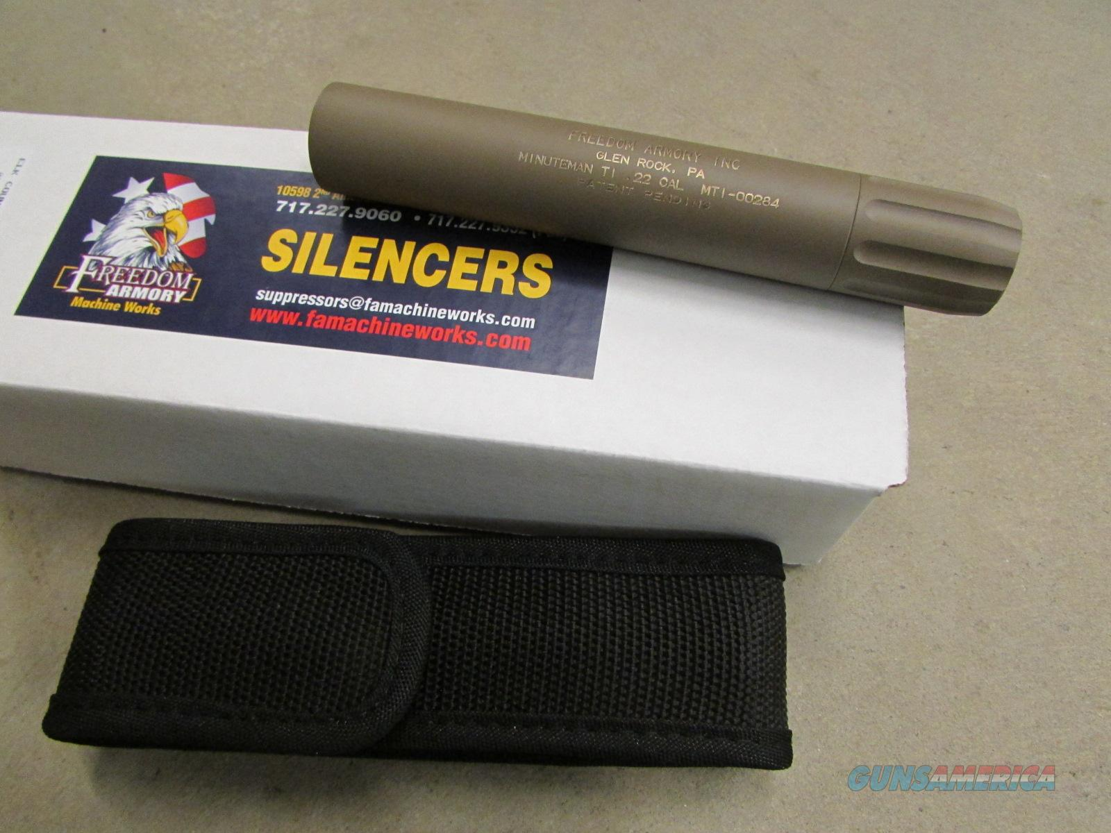 FREEDOM ARMS MACHINE WORKS MINUTEMAN TI .22 CALIBER SILENCER/SUPPRESSOR FDE  Non-Guns > Barrels