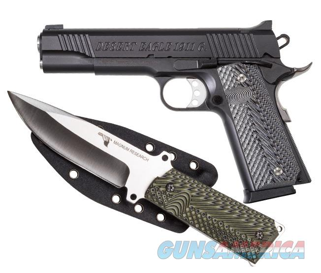 "Magnum Research Desert Eagle 1911 G 9mm w/Knife 5.01"" Black DE1911G9-K   Guns > Pistols > Magnum Research Pistols"