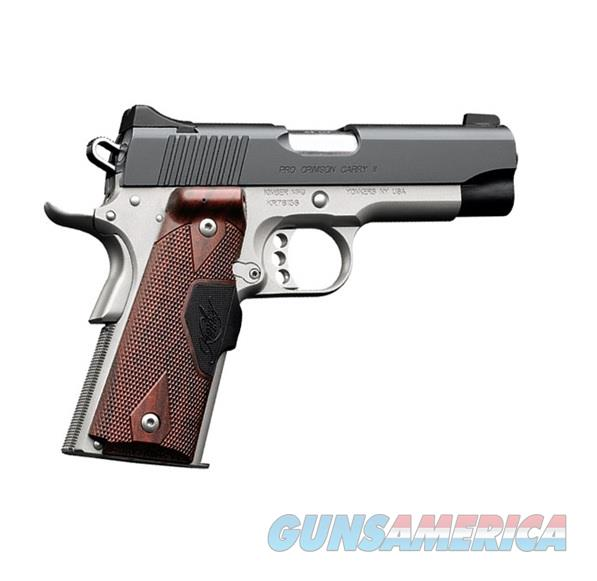 Kimber Micro 9 Stainless Dn Tfx Pro Sight Hogue: Kimber Pro Crimson Carry II Red Laser .45 32001... For Sale