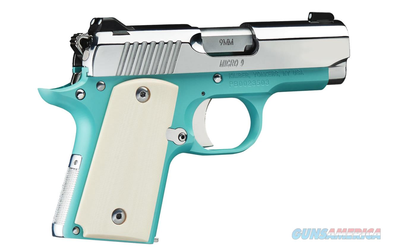 "Kimber Micro 9 Bel Air Blue 9mm 3.15"" SS Ivory Grips 3300110   Guns > Pistols > Kimber of America Pistols > Micro 9"