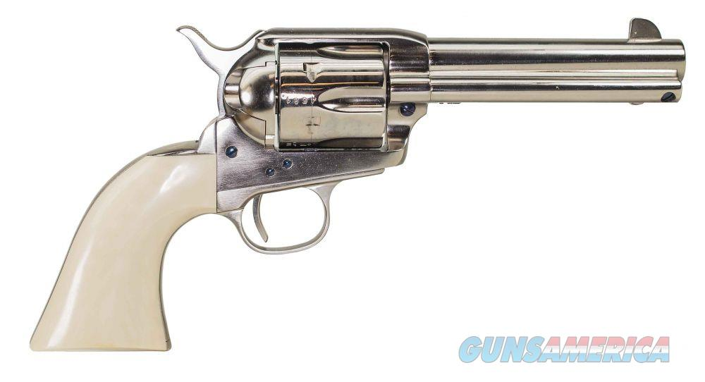 "Uberti 1873 SA Cody New Model .45 Colt Nickel Ivory 4.75"" 356113   Guns > Pistols > Uberti Pistols > Ctg."