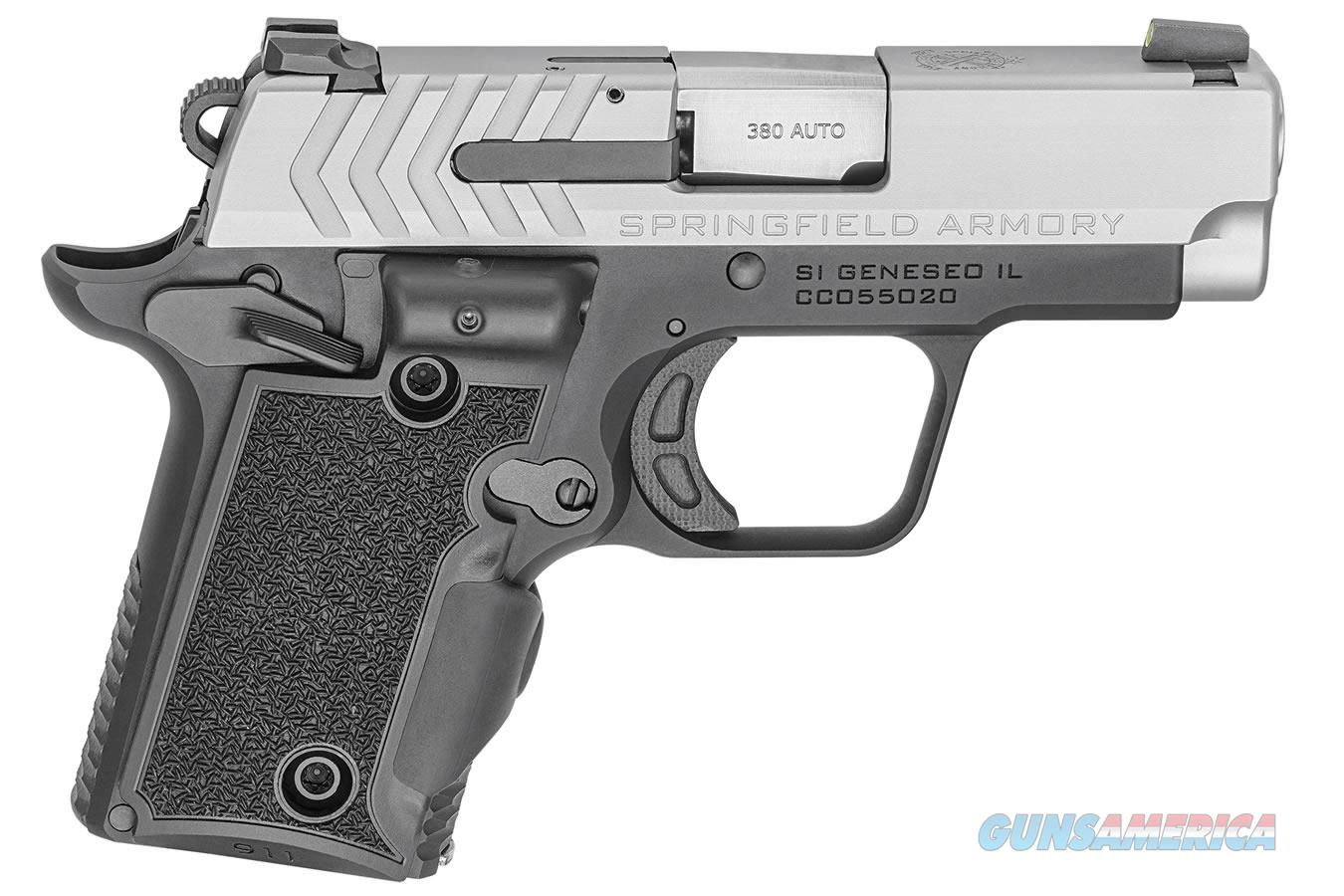 "Springfield 911 .380 ACP 2.7"" Stainless Viridian Laser Grip PG9109SVG  Guns > Pistols > Springfield Armory Pistols > 911"