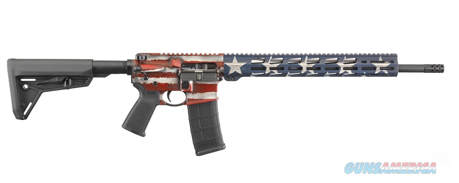 "Ruger AR-556 MPR 5.56 NATO 18"" American Flag 30 Rds 8538   Guns > Rifles > Ruger Rifles > AR Series"
