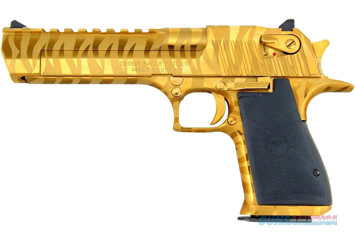 Magnum Research Desert Eagle .44 Mag Gold w/Tiger Stripes DE44TG-TS   Guns > Pistols > Magnum Research Pistols